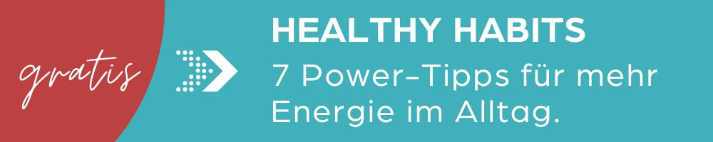 Healthy habits Email-Kurs von CeJay Personal Training. Jetzt gratis anmelden.